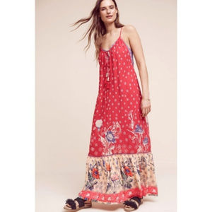 ANTHROPOLOGIE Maeve Kira Printed Maxi Dress Small